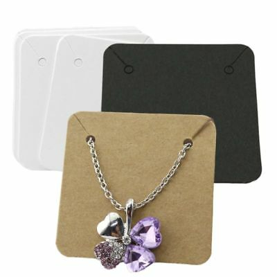 100*  Fashion Jewelry Bracelet Display Cards Necklace Holder Package Hang Card