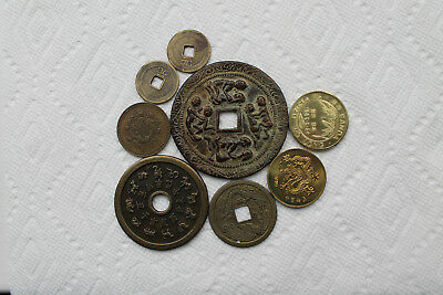 China Tokens, 8 total, interesting items