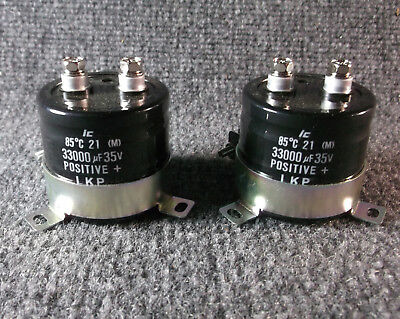 33000 uF 35V capacitor,  threaded stud leads, mounting bracket ***QTY=2***