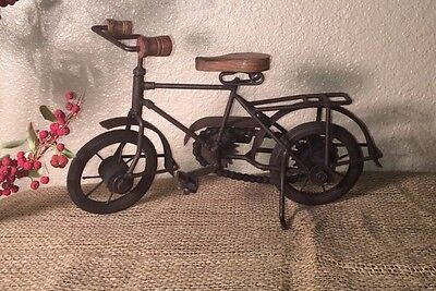 Antique Look Hand Made Iron Bicycle Home Decor Decorative Collectible Bike Gift