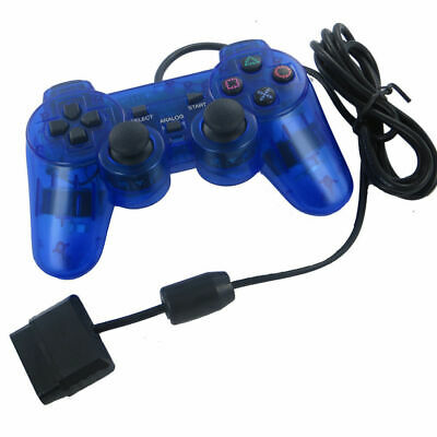 Blue Twin Shock Game Controller Joypad Pad for Sony PS2 Playstation 2