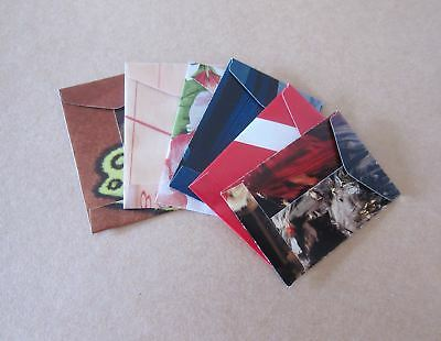 """Handmade seed envelopes 1-3/4""""x2-1/2"""" upcycled paper (25 = $3.20) w/gummed flap"""