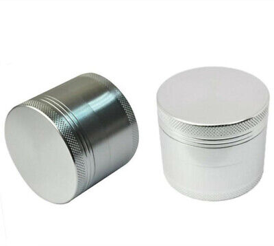 Tobacco Herb Spice Grinder 4 Pcs Herbal Alloy Smoke Metal Chromium Crusher Grey