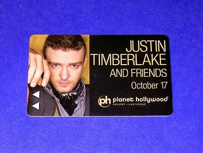 Planet Hollywood Hotel Casino Las Vegas 'Justin Timberlake' Room Key Card