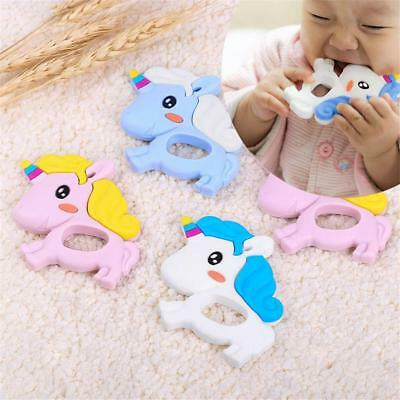 Animals Shape Baby Silicone Teether Teething Pendant Necklace BPA Chew Toy 8C