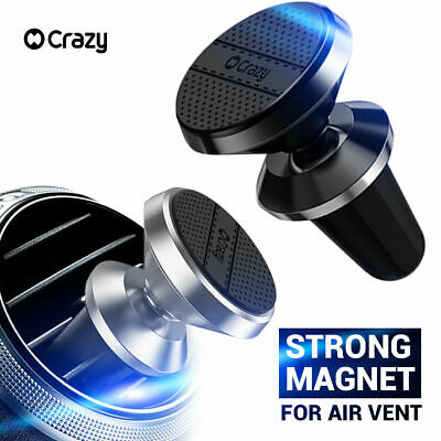 CRAZY Universal Magnetic Car Holder Mount Air Vent for iPhone Galaxy GPS Samsung