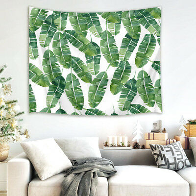 Watercolor Green Palm Leaves Tapestry Wall Hanging for ...