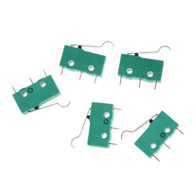 5Pcs KW4-3Z-3 SPDT NO NC Momentary Hinge Lever Limit Switch Microswitch Gx