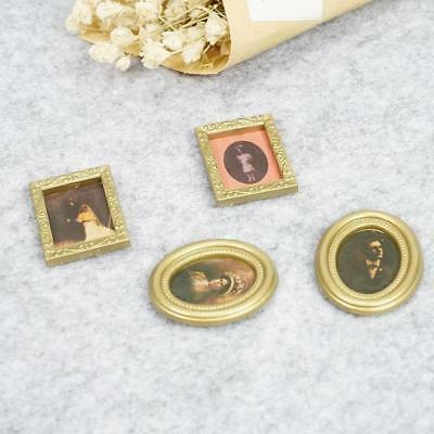 1:12 Dollhouse Miniature Framed Wall Painting Home Decor Room Items Lot 4 items