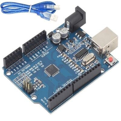 Hot Arduino Uno R3 Rev3 ATMEGA328P Compatible Board FREE USB CABLE & Pins