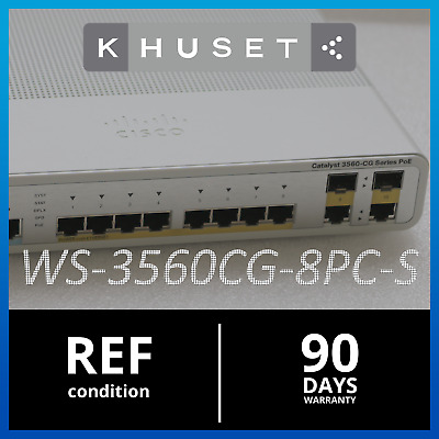 Cisco  Catalyst 3560 (WS-C3560CG-8PC-S) 8-Ports-Ports Switch w. PICTURES Khuset