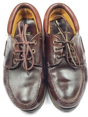 TIMBERLAND Brown Deck Boat Casual Lace Up Leather Shoes UK 8.5 Pre-worn