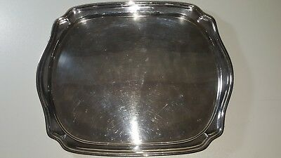 Wiskemann silver plate square serving tray vintage