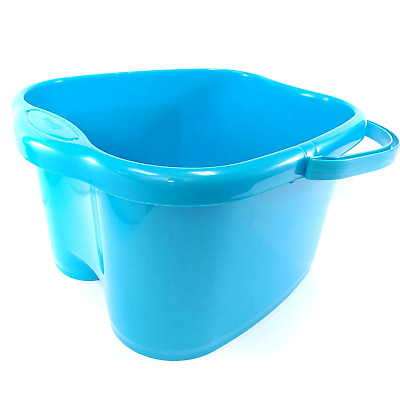 Blue Foot Basin For Foot Bath Soak Deep With 3 Gallon Capacity Unique Design