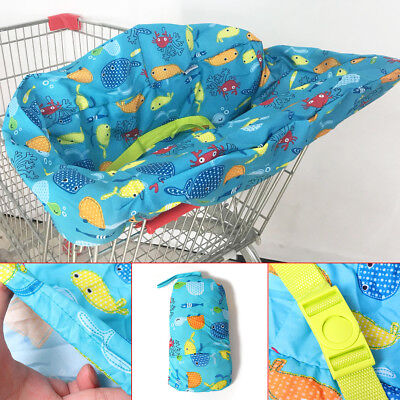 Baby Supermarket Trolley Portable Shopping Cart Seat Chair Cover Protector Mat