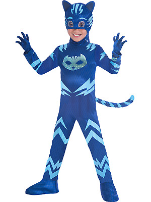 Boys Girls Official PJ Masks Cat Boy TV Fancy Dress Costume Outfit 3-8 Years