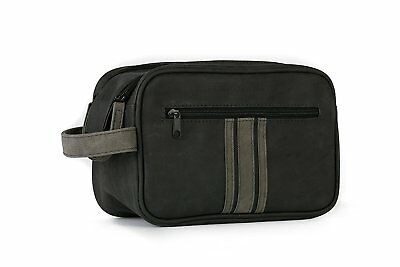 Danielle Brompton & Langley Men's Black and Charcoal Double Zip Wash Bag 70022