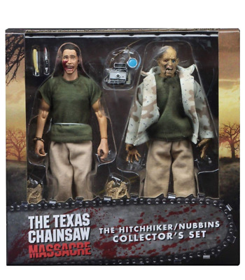 """NECA Texas Chainsaw Massacre Hitchhiker Nubbins 2-pack 8"""" Clothed Action Figures"""