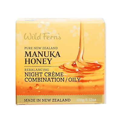 Wild Ferns Manuka Honey NIGHT CREME Combination/Oily 100g Short Dated 11/2018