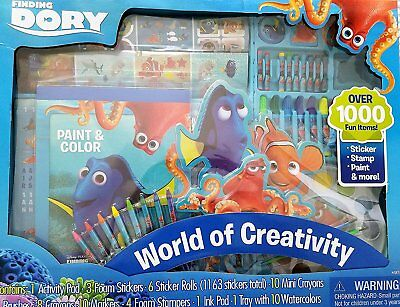 Disney Pixar Finding Dory World of Creativity Activity Set Over 1000 Items