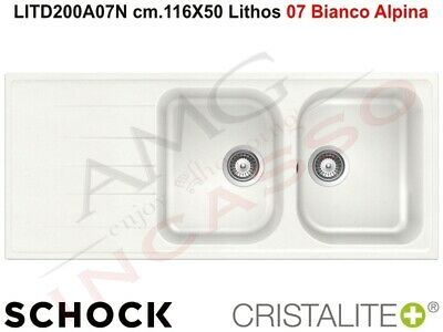 LAVELLO CUCINA Incasso Fragranite 2 Vasche cm.116x50 Schock Lithos ...