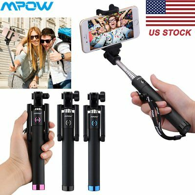 MPOW Portable Shutter Remote Bluetooth Extendable Selfie Stick for iPhone 6 7 8