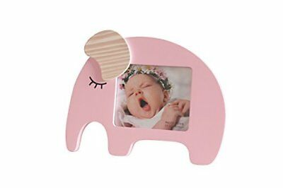 Newborn Baby Girl Desktop Picture Frame Pink Elephant