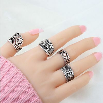 Ancient Punk Jewelry For Wedding/Party Ring Ring Set Finger Ring Women Jewelry