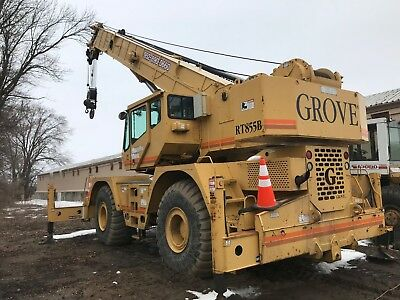 1995 Grove RT855B 55-Ton Rough Terrain Crane located in Minneapolis