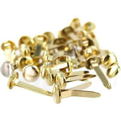 20mm Quality Brass (Gold) Paper Fasteners Split Pins Butterfly Clip