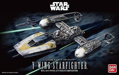Bandai Hobby Star Wars Y-Wing Starfighter 1/72 Scale Model Kit USA Seller NEW