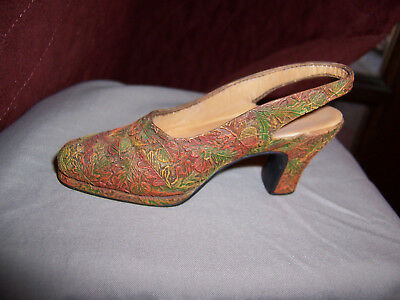 Just The Right Shoe Figurine Sling Back Strap  High Heel Autumn 1999