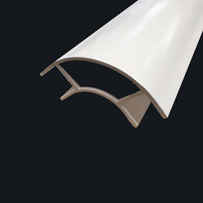 2 x 500mm ANODISED ALUMINIUM CURVED CORNER PROFILE FOR 15mm BOARDS CAMPERVAN