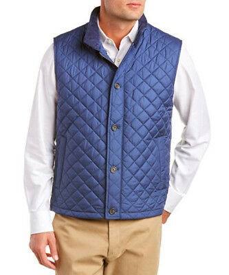 Brooks Brothers Blue Diamond Quilted Primaloft Vest Jacket Coat 2XL XXL 7099-1