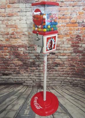 Coke Memorabilia Coca cola vintage candy machine metal stand restored bar gift