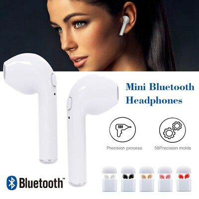 I7 TWS Bluetooth Earbuds Headset Twins  Wireless Earphone Charger Box for Iphone