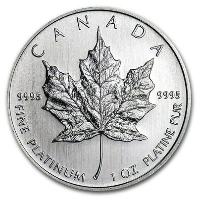 SPECIAL PRICE! Canada 1 oz Platinum Maple Leaf BU (Random Year) - SKU #167912