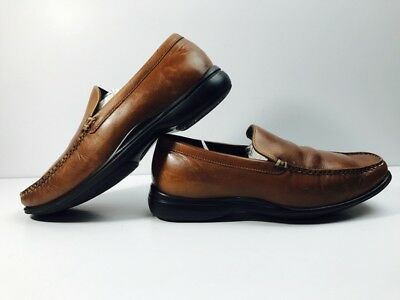 Cole Haan Men's Light Brown Leather Loafer Slip On Air Soles Shoes Sz 7 Wide GUC