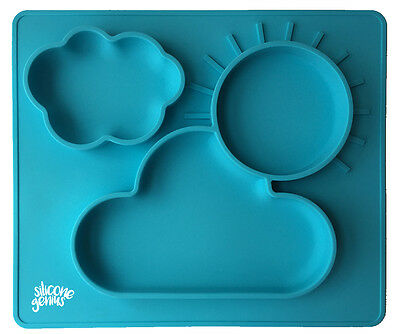 Kids Silicone Suction Food Placemat With Built In Plates