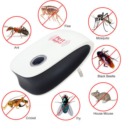 Ultrasonic Electric Pest Repeller Mice Mosquito Cockroach Insect Killer US Plug