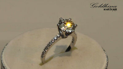 2.20Ct Round Gorgeous Fired Diamond Engagement Ring Gift 14K Real White Gold
