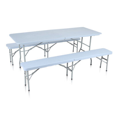 Table Bancs Camping Pliable Ensemble Table Buffet Banc Pliant Jardin