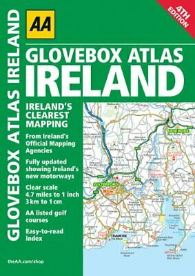 Glovebox Atlas Ireland (Road Atlas) by AA Publishing Spiral bound Book The Cheap