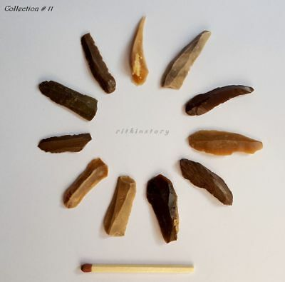 ⚱ Ancient Neolithic • Paleolithic Flint Blade • Arrowhead • Microlith • Israel ⚱