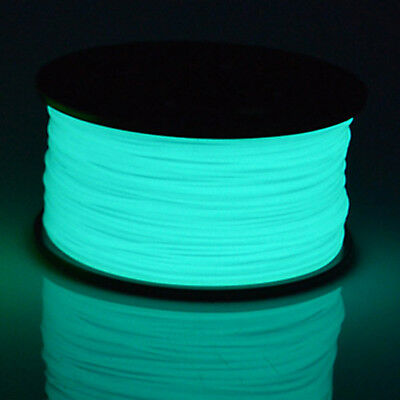 3D Printer Filament PLA 1.75mm Glow In The Dark Series Noctiucent Blue