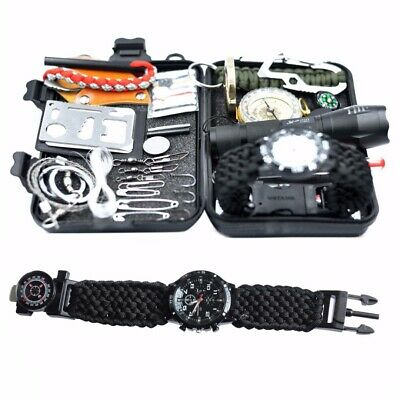 15 in 1 SOS Emergency Tactical Survival Equipment Kit Outdoor Gear Tool Camping
