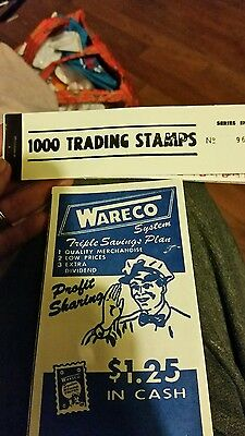 Wareco 1000 trading stamps & profit sharing booklet stamp book nos