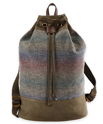Twill Duffle Backpack Duffel Bag Everyday Travel School Yakima Camp Stripe  NEW 9fa48299f79c2