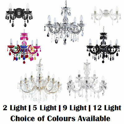 2/5/9/12 Lights Marie Therese Chandelier Acrylic Ceiling Pendant Light Litecraft