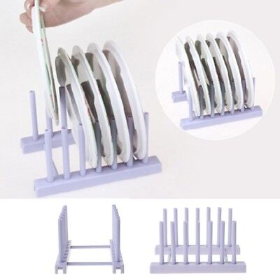 Plate Cup Rack Pot Lid Holder Plastic Drying Storage Stand Kitchen Organizer